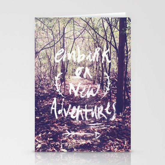 New Adventures Stationery Card