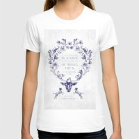 GENIUS Womens Fitted Tee White SMALL