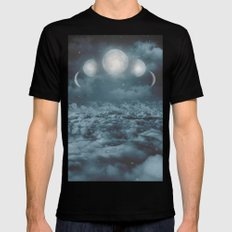 Uncertain. Alone. Cratered By Imperfections. (Loyal Moon) Mens Fitted Tee Black SMALL