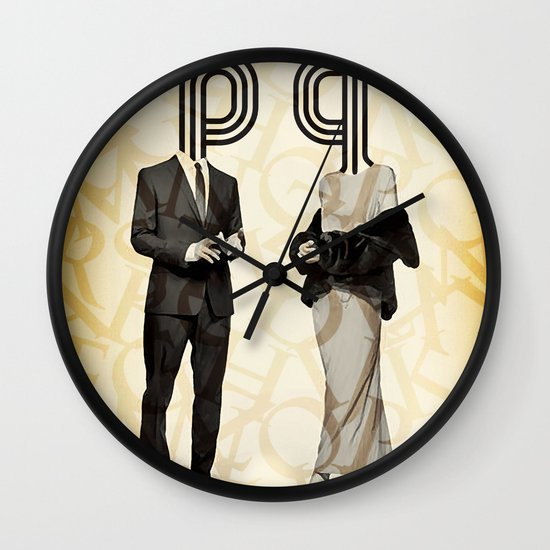 Mr P and Mrs Q Wall Clock