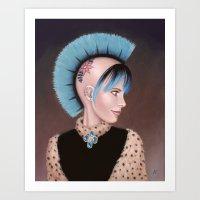 Lady Evangeline Art Print