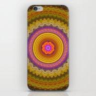 Grunge Flower In A Zigza… iPhone & iPod Skin