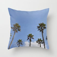 Sky Palms Throw Pillow