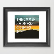 Sadness and Joy Framed Art Print