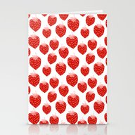Stationery Cards featuring Strawberries - Trendy Fr… by CharlotteWinter