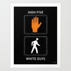 High Five White Guys Art Print