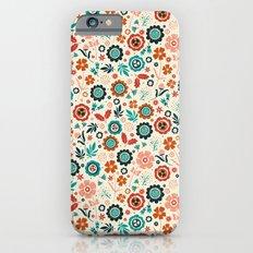 Folk Flowers Slim Case iPhone 6s