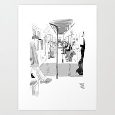 The Long Ride Art Print