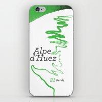 Famous Climbs: Alpe d'Huez 1, Modern Spring iPhone & iPod Skin