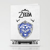 Zelda Legend - Hylian Sh… Stationery Cards