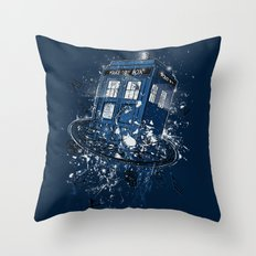 Breaking the Time Throw Pillow