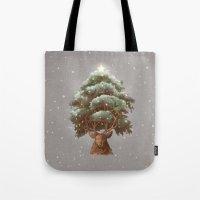 Reindeer Tree Tote Bag