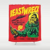 BEASTWRECK ATTACKS! Shower Curtain