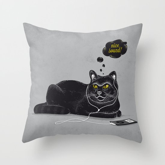 Chilling Cat Throw Pillow