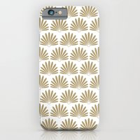 White & Tan Daisies iPhone 6 Slim Case