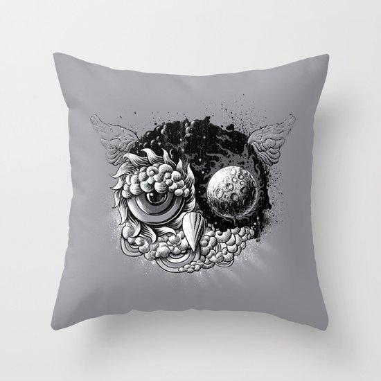Owl Day & Owl Night Throw Pillow