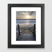Steps to the Ocean Framed Art Print