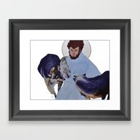 Saint With Wolves Framed Art Print