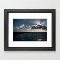Anguilla At Dusk Framed Art Print