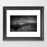Desert Lake Framed Art Print