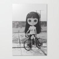 Paseo en bici ~ Walk in bicycle Canvas Print