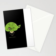 StarWars May the Force be with you (green vers.) Stationery Cards
