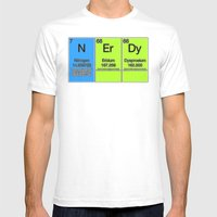 Nerdy Table Mens Fitted Tee White SMALL