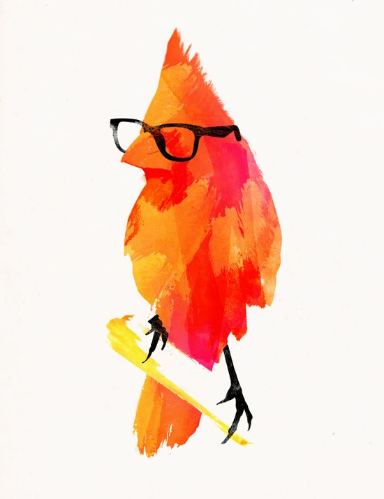 Punk bird Art Print