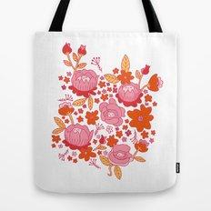 Floral Folk Tote Bag
