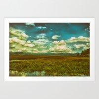 Flower Lake Art Print