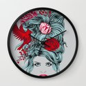 Winter Girl Wall Clock