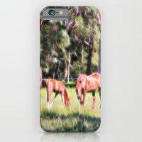 Horse And Foal Feeding I… iPhone 6 Slim Case