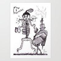 Man & Machine Art Print
