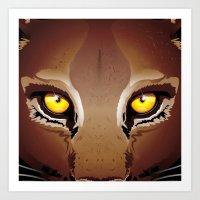 Wild Puma Eyes Art Print