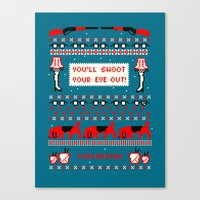 A Christmas Sweater (Blue) Canvas Print