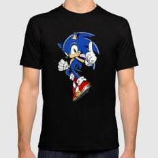 SONIC THE EDGEHOG Mens Fitted Tee Black SMALL