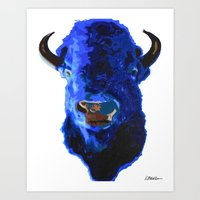 Blue Buffalo Art Print