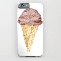 Watercolour Illustrated Ice Cream - Chocolate Dream iPhone 6 Slim Case