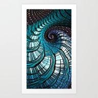 Blue Ox Art Print