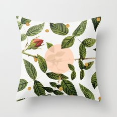 Leaves + Dots Throw Pillow