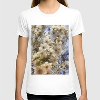 spring outside  Womens Fitted Tee White SMALL