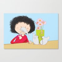 Acting Like Mice.... Canvas Print