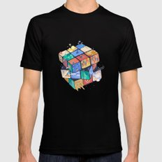 RUBIX HOUSE SMALL Black Mens Fitted Tee