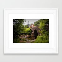 Dartmeet Bridge, Badgers Holt, Dartmoor National Park in Devon. England, UK Framed Art Print