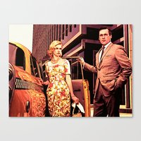 Betty & Don Draper From … Canvas Print