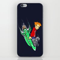 Bender and Fry iPhone & iPod Skin
