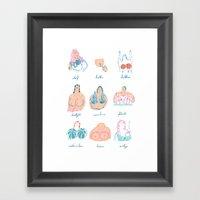 (.)(.) Framed Art Print