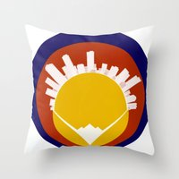 Eolus / Denver / Colorad… Throw Pillow