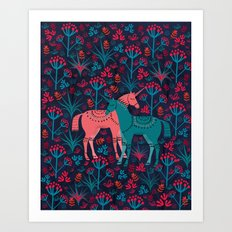 Unicorn Land Art Print