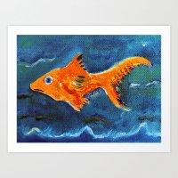 Goldfish 2 Art Print